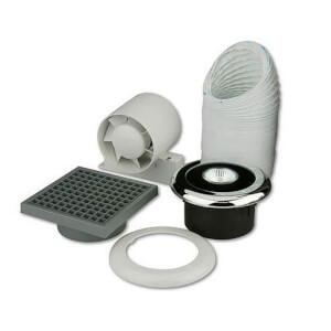 Shower Fan and Light Kit - 100mm