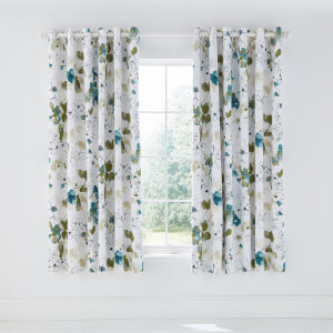 Neroli Lined Curtains 66x72 Aloe