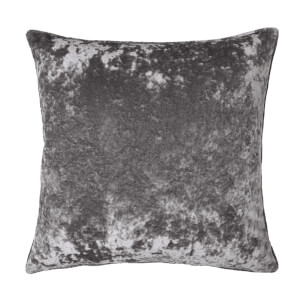 Crushed Velvet Cushion - Grey - 58x58cm