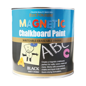 Rust-Oleum Black - Magnetic Chalkboard Paint - 2.5L