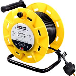 Masterplug 4 Socket Cable Reel 50m Yellow/Black