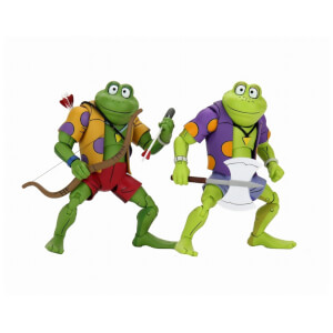 NECA Teenage Mutant Ninja Turtles Cartoon Genghis and Rasputin Frog Ultimate 7 Inch Scale Action Figure 2-Pack
