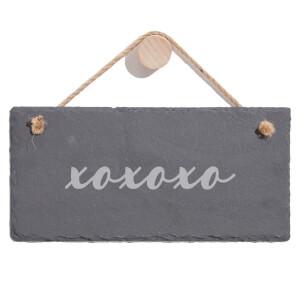 Xoxoxox Engraved Slate Hanging Sign