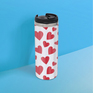 Hearts Stainless Steel Thermo Travel Mug