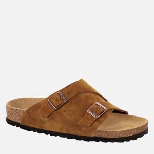 Birkenstock Men's Zurich Sfb Suede Slide Sandals - Mink