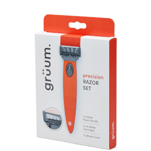 grüum Precision Razor Set - Tangerine Orange