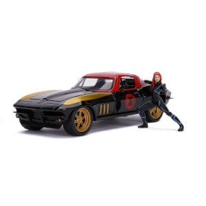 Jada Toys Marvel Black Widow 1966 Chevy 1:24
