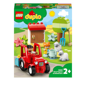LEGO DUPLO Town: Farm Tractor & Animal Care Toddler Toy (10950)