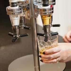 Four Bottle Optic Drinks Dispenser