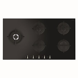 CDA HVG971BL 5 Burner Gas On Glass Hob - 90cm - Black