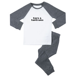 Tiers & Tantrums Kids' Pyjamas - White/Grey