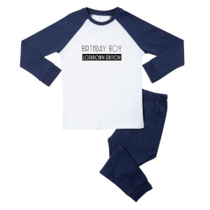 Birthday Boy Lockdown Edition Kids' Pyjamas - White/Navy