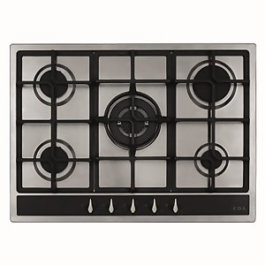 CDA HG7351SS 5 Burner Gas Hob with Front Controls - 70cm - Stainless Steel