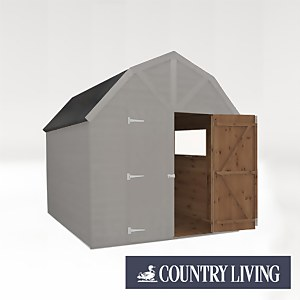 Country Living Appleby 8 x 8 Premium Pressure Treated Shiplap T&G Dutch Barn Painted + Installation - Thorpe Towers