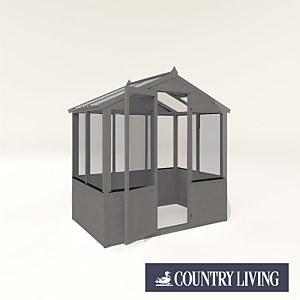 Country Living Kelham 4 x 6 Traditional Greenhouse Painted + Installation - Thorpe Towers