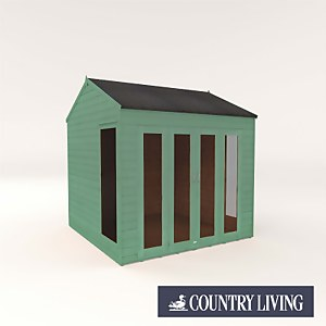 Country Living Hawksworth 8 x 8 Summerhouse Painted + Installation - Aurora Green