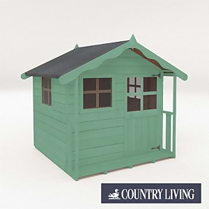 Country Living Wellow Playhouse Painted + Installation - Aurora Green