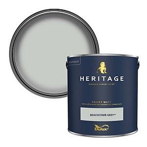 Dulux Heritage Matt Emulsion Paint - Beachcomb Grey - 2.5L