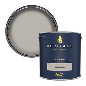 Dulux Heritage Matt Emulsion Paint - Pebble Grey - 2.5L