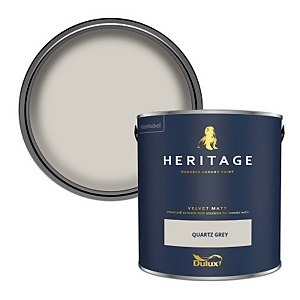 Dulux Heritage Matt Emulsion Paint - Quartz Grey - 2.5L