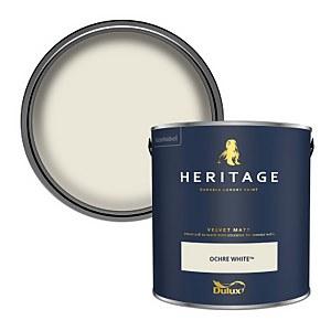 Dulux Heritage Matt Emulsion Paint - Ochre White - 2.5L