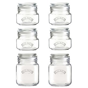 Kilner Push Top Square 6 Pieces Jar Set