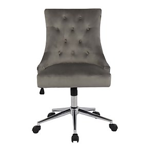 Cressida Chair Office Grey Velvet