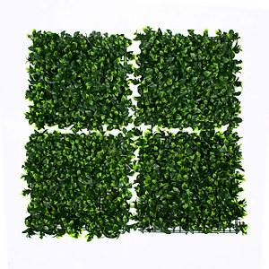 Artificial Green Leaf Wall 4pk