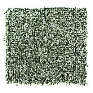 Artificial Greenwhite Leaf Wall 4pk