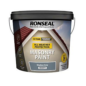 Ronseal All Weather Masonry Paint Shadow Grey 10L