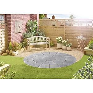 Stylish Stone Chantry Circle Kit 2.4m Graphite