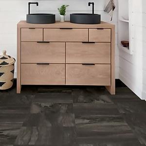 FloorPops Peel and Stick Floor Tiles - Raven