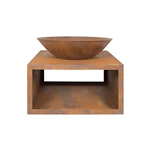 Moho Oxidised Firepit With Steel Stand