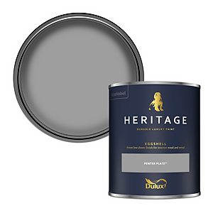 Dulux Heritage Eggshell Paint - Pewter Plate - 750ml