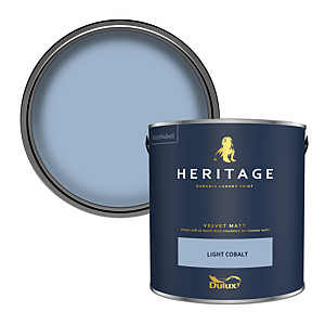 Dulux Heritage Matt Emulsion Paint - Light Cobalt - 2.5L