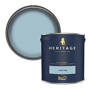 Dulux Heritage Matt Emulsion Paint - Light Teal - 2.5L