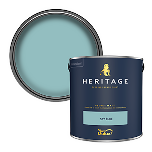 Dulux Heritage Matt Emulsion Paint - Sky Blue - 2.5L