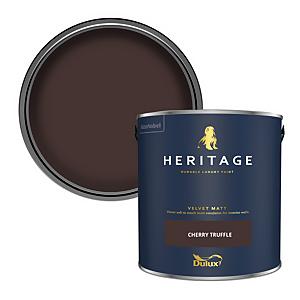 Dulux Heritage Matt Emulsion Paint - Cherry Truffle - 2.5L