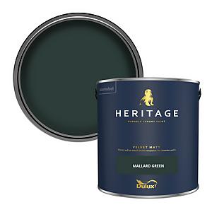 Dulux Heritage Matt Emulsion Paint - Mallard Green - 2.5L