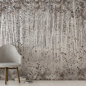 Painterly Woods Neutral Wall Mural