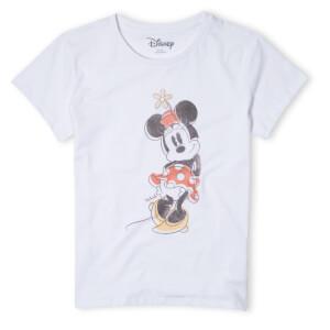 Disney Minnie Offset Women's T-Shirt - White