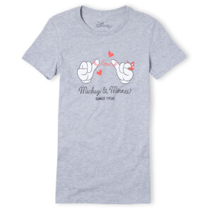 Disney Mickey Mouse Love Hands Women's T-Shirt - Grey