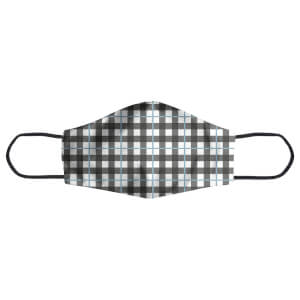 Tartan Checked Blue Face Mask