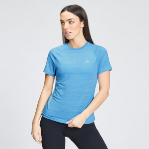 MP Women's Performance Training T-Shirt - Bright Blue Marl with White Fleck