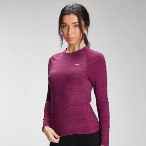 MP Women's Performance Long Sleeve Training T-Shirt - Deep Pink Marl with Black Fleck