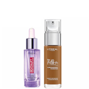 L'Oreal Paris Hyaluronic Acid Filler Serum and True Match Hyaluronic Acid Foundation Duo (Various Shades)
