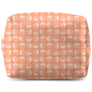 Retro Peach Circles Wash Bag