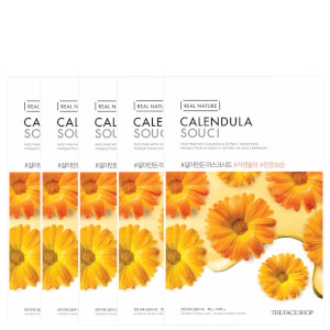 THE FACE SHOP Real Nature Sheet Mask - Calendula (Pack of 5)