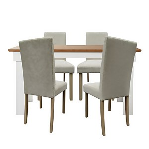 Diva 4 Seater Dining Set - Ivory