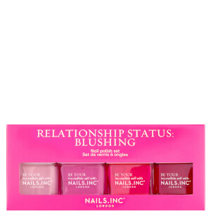 nails inc. Relationship Status Blushing Quad Set